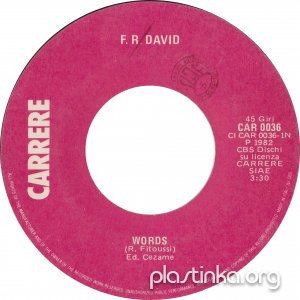 F. R. David Words/When The Sun Goes Down