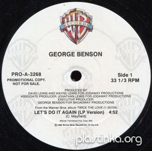 "George Benson - Let's Do It Again (1988) 12"" Single Promotional Copy"